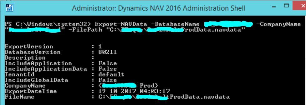 NAV-ExportData